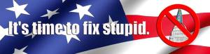 It's Time to Fix Stupid logo